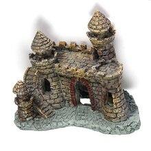 Украшение для аквариума, старинный замок, башня, аквариум, пейзаж, украшение из смолы