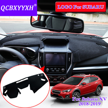 QCBXYYXH For Subaru XV 2018 2 Colors Dashboard Mat Protective Cover Interior Photophobism Pad Shade Cushion Car Styling