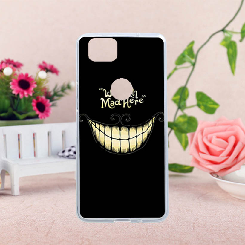 Cases Silicon For HTC Pixel2 Google Pixel 2 5.0 Inch Cover Soft TPU For HTC Pixel2 Google Pixel 2 DIY Painted Case