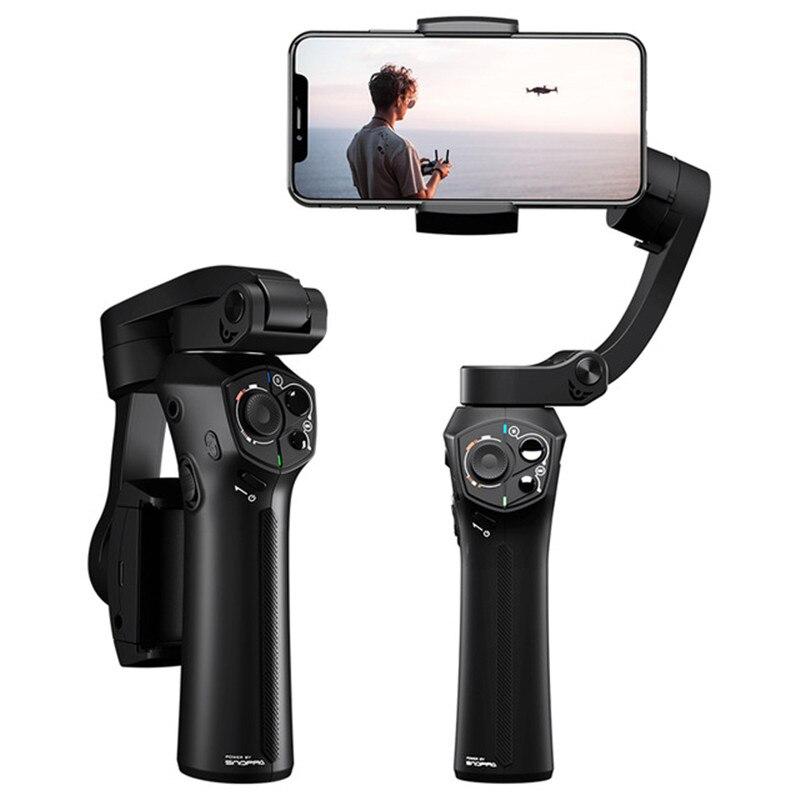 Atom 3 axis Складной Карманный ручной шарнирный стабилизатор для камеры GoPro Портативный телефон карданного подвеса для iPhone X huawei смартфоны для ... - 5