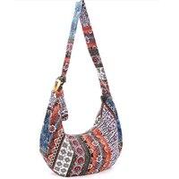Women Fashion Floral Shoulder Bag Monk Canvas Sling Tote bag Crossbody bag