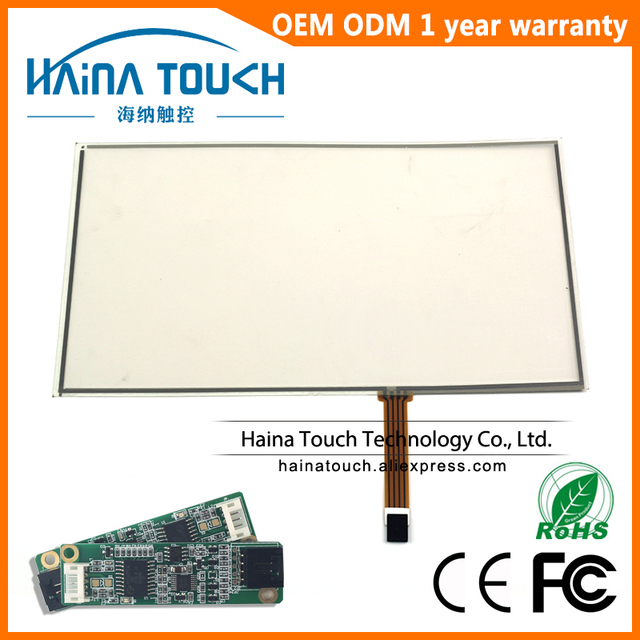 Win10 Compatible 17.3 inch resistive USB touch screen overlay kit, computer monitor 17.3 touch screen with USB controller