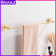 Towel Bar Brass Gold Bathroom Holder Washroom Toilet Rack Hanging Wall Mounted Decorate Accessories