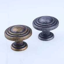 30mm antique bronze drawer shoe cabinet knobs pulls antique iron dresser kitchen cabinet door handles knobs Vintage distress