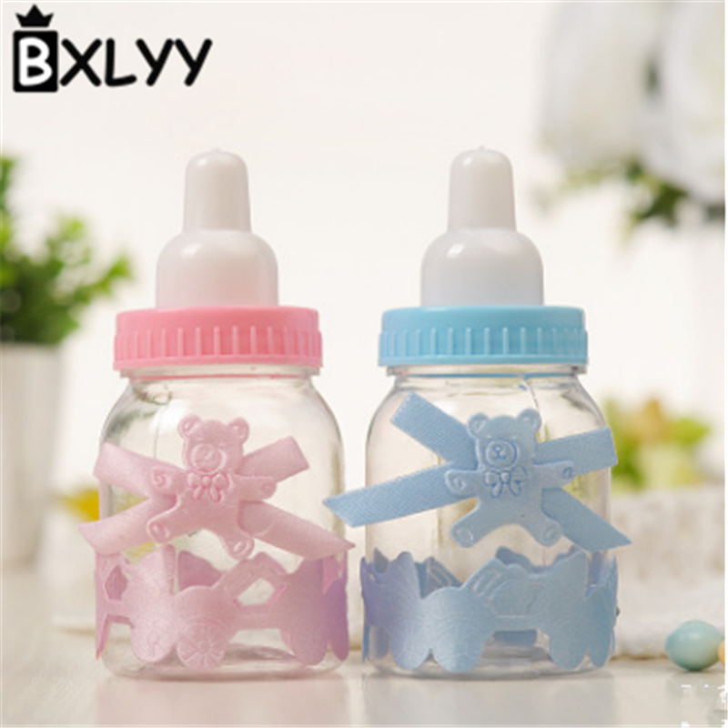 BXLYY Plastic Bottle Candy Box 12pc a Dozen Shower Baby Treat Kids Birthday Home Decoration Accessories Box for Weddings 6z in Gift Bags Wrapping Supplies from Home Garden