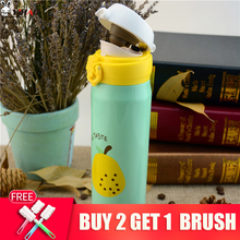 YIHAO 350ML 500ML Fruit Pattern Thermocup Stainless Steel Thermos Bottle 350ML 500ML Outdoor Vacuum Insulation Water Bottle