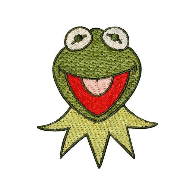 Frosch gesicht KERMIT muppets Patch Computer Stickerei Hand Nähen ...