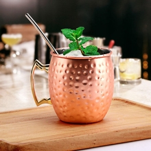 Ounces Hammered Copper Plated Moscow Mule Mug Beer Cup Coffee Cocktail For Stainless Steel