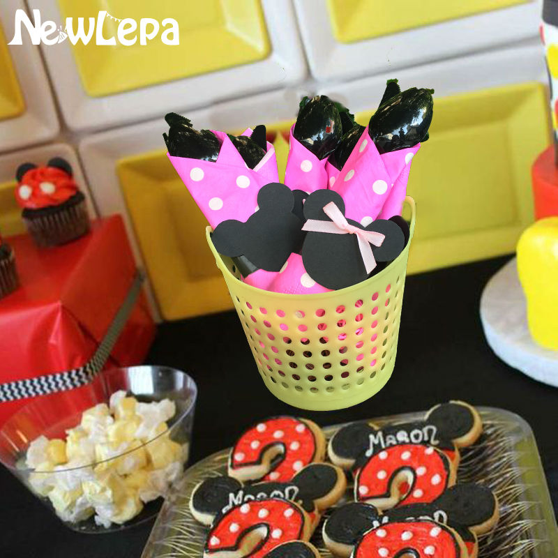 Mickey Minnie Mouse Party Favors Plastic Knives Forks