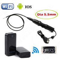 PC Android Endoscope 5 5mm Lens Waterproof Borescope Inspection Camera 6 LED Wifi Box For Andorid