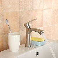 New G1/2 Zinc Alloy Waterfall Bathroom Basin Sink Water Faucet Taps 0.6Pa Single Handle Cold Kitchen Faucet Mixer Tap