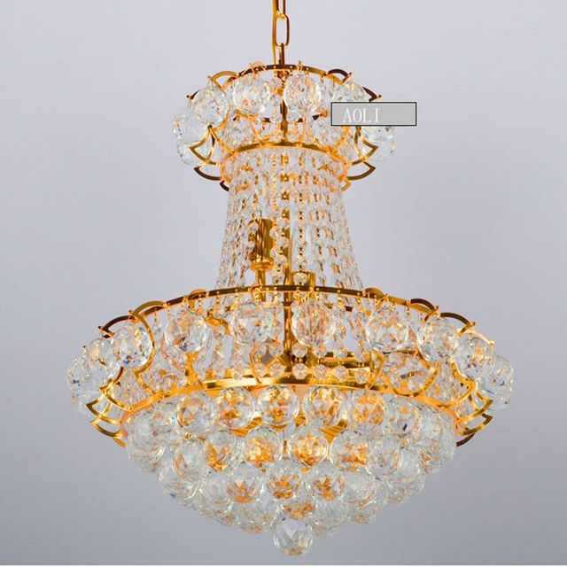 Gold Chrome Crystal Chandelier Light Fixtures Led Bulb Home Lighting Used In Living Room Dining Restaurant Width 48cm