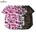 2017 Verão Estendido Curvo Hem Camiseta Homens Urbanos Kpop Espinhel de camuflagem Hip Hop T-shirt Tshirts Menino Justin Bieber Kanye oeste