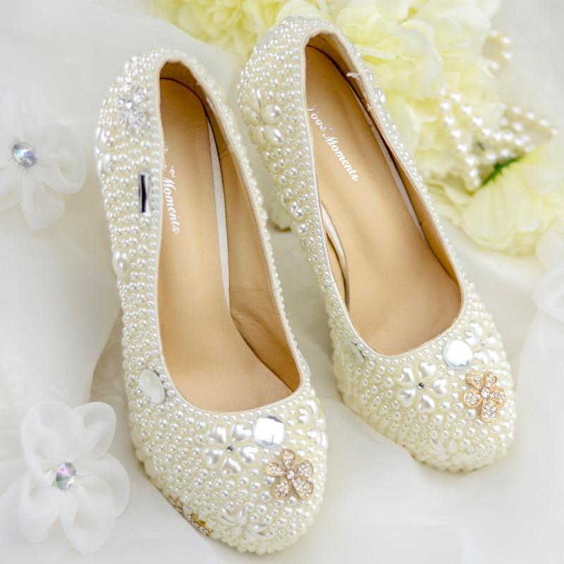 8c87aaec2 Altos Fiesta Tacones Bombas Cuentas Beige Personalizadas Cenicienta Perla  Regalos Adultos Novia Blancas Mujer Boda De Zapatos Vestido Diamante  HwqFdpBw