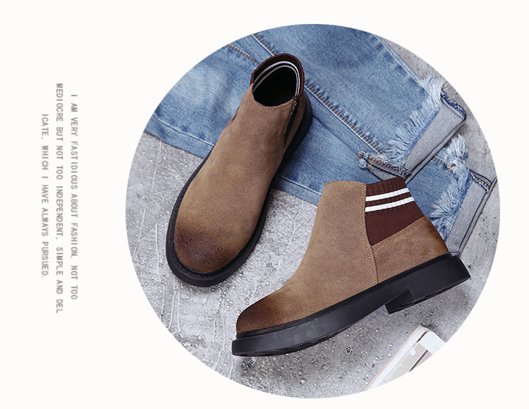 The new autumn 2018 Martin boots flat short tube with restoring ancient ways round head women's boots 54