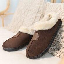 Mùa Đông Dép Nữ Size Lớn 35 50 Người Yêu Lông Trượt Sang Trọng Giày Đế Bằng Nữ Mềm Mại Nhà Giữ Ấm vải Cotton Áo Unisex