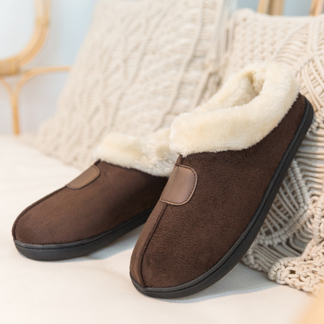 Winter Womens Slippers Big Size 35 50 Lovers Fur Slides Plush Flat Shoes Female Soft Home Keep Warm Cotton Shoes Casual Unisex