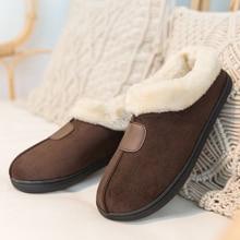 Zapatillas de invierno para mujer, zapatos planos de felpa, suaves, de algodón, informales, para el hogar, tallas 35 50