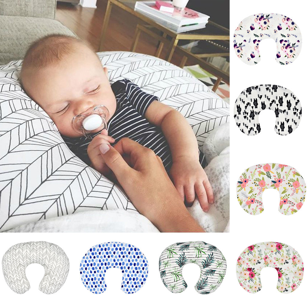 Newborn Baby Floral Print Multi-Function Nursing Pillow Cover Breastfeeding Pillow Case Infant Head Protective Cushion Cover