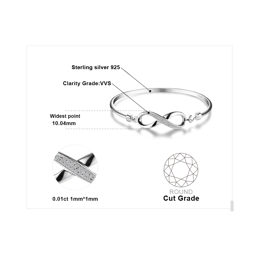 Aliexpress Buy Jewelrypalace Forever Love Infinity Cubic