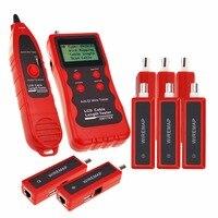 Многофункциональный сетевой Ethernet LAN телефонный Провода кабель Длина тестер w/8 удаленного адаптера Провода map RJ45 RJ11 BNC USB кабельный тестер