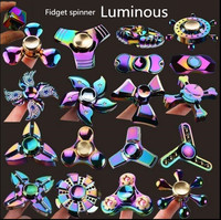 Wheel Shape Spinner for ADD ADHD Anxiety Autism People Finger Hand Toy Gyro Desk Pocket Metal Zinc Alloy Rainbow Color