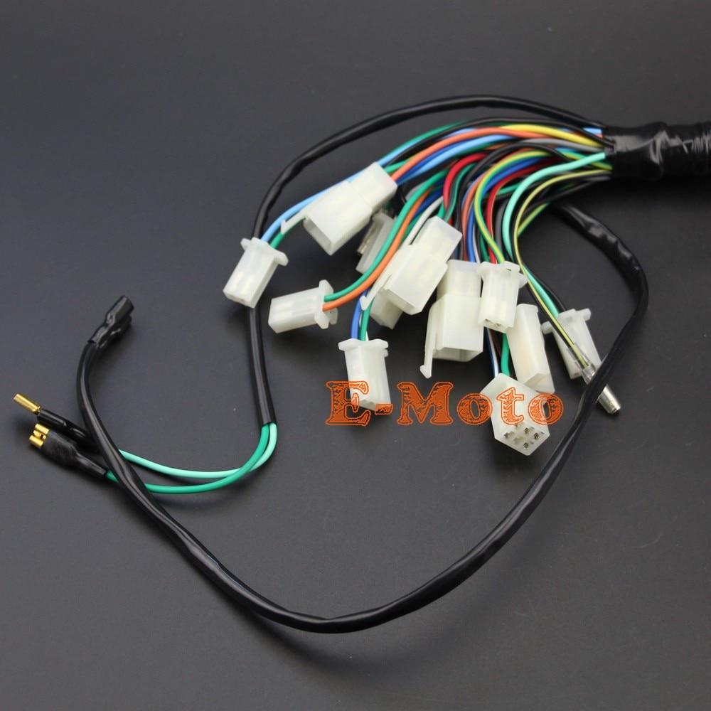wiring harness loom for chinese electric start quads 50cc 70cc 90cc 110cc 125cc 140cc 1 1 2 2 3 3 4 4  [ 1000 x 1000 Pixel ]