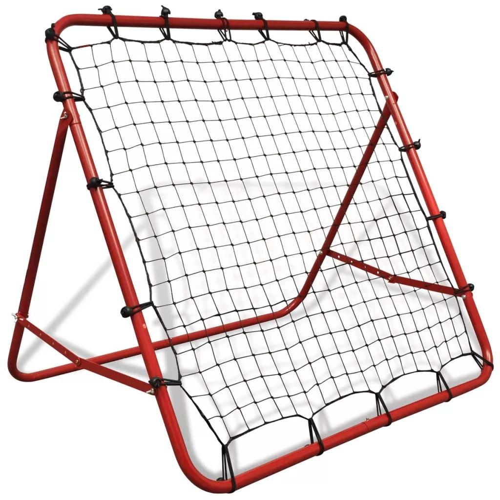 Adjustable Football Kickback Rebounder 100x100cm High-Quality Power-Coated Steel Lightweight Sturdy Soccer Rebounder With Net