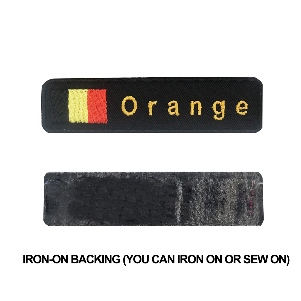 Custom Belgium flag name patches personalized iron on hook backing in Patches from Home Garden