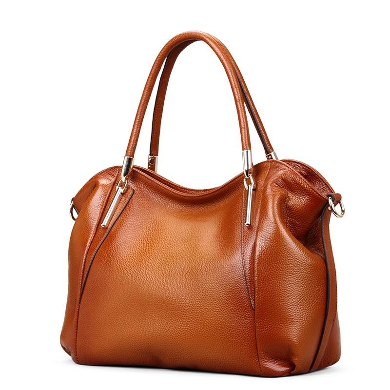 Sacs à main vintage des femmes souple en cuir véritable fourre-tout - Des sacs - Photo 2