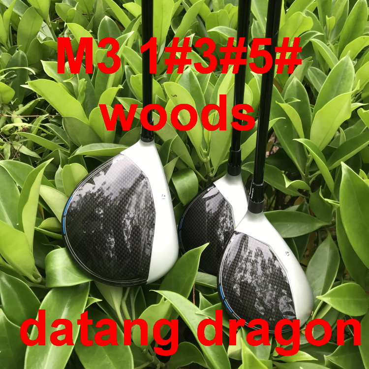 datang dragon M3 golf driver 3#5# fairway woods with graphite shaft stiff flex headcover wrench 3pcs golf clubs
