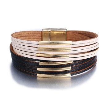 Women's Gold Leather Bracelet Bracelets Jewelry New Arrivals Women Jewelry Metal Color: FCS114121