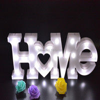 Home Letter LED Festival Outdoor Lamp Sign Night Light For Wedding Decor Alphabet Light Indoor Wall Decoration Light Up Letter