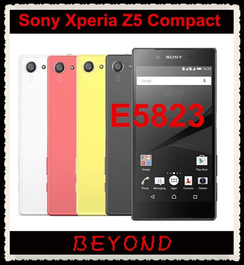 "bilder für Sony xperia z5 compact e5823 original unlocked gsm 4g lte android octa-core ram 2 gb rom 32 gb 4,6 ""23MP WIFI GPS"