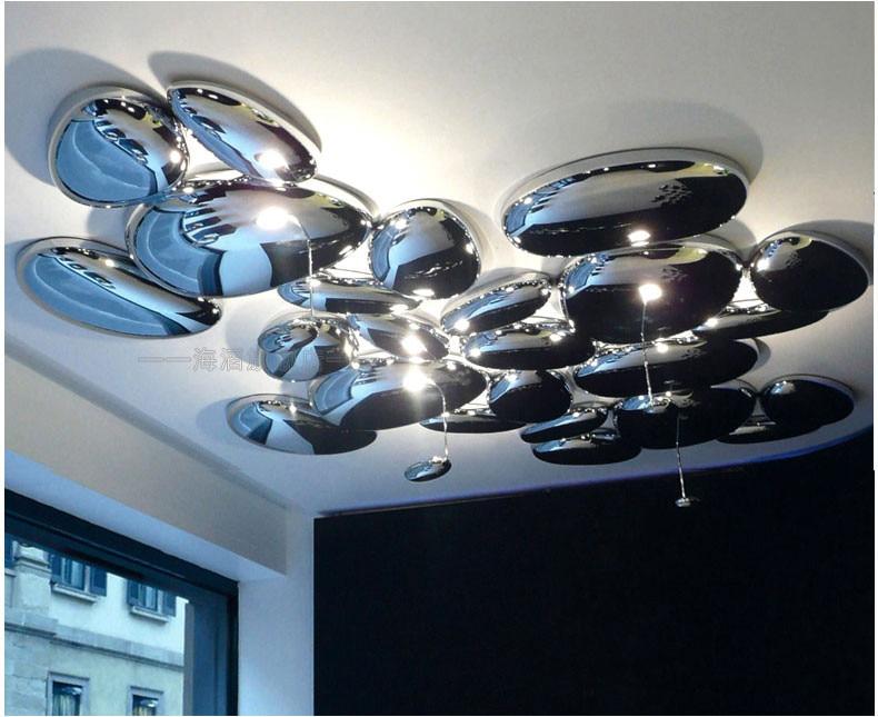 LED Postmodern Nodic Alloy Chrome Water Drop LED Lamp.LED Light.Ceiling Lights.LED Ceiling Light.Ceiling Lamp For Foyer Bedroom