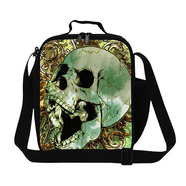 2016 new design insulated lunch box 3d human skeleton printed men, Skeleton