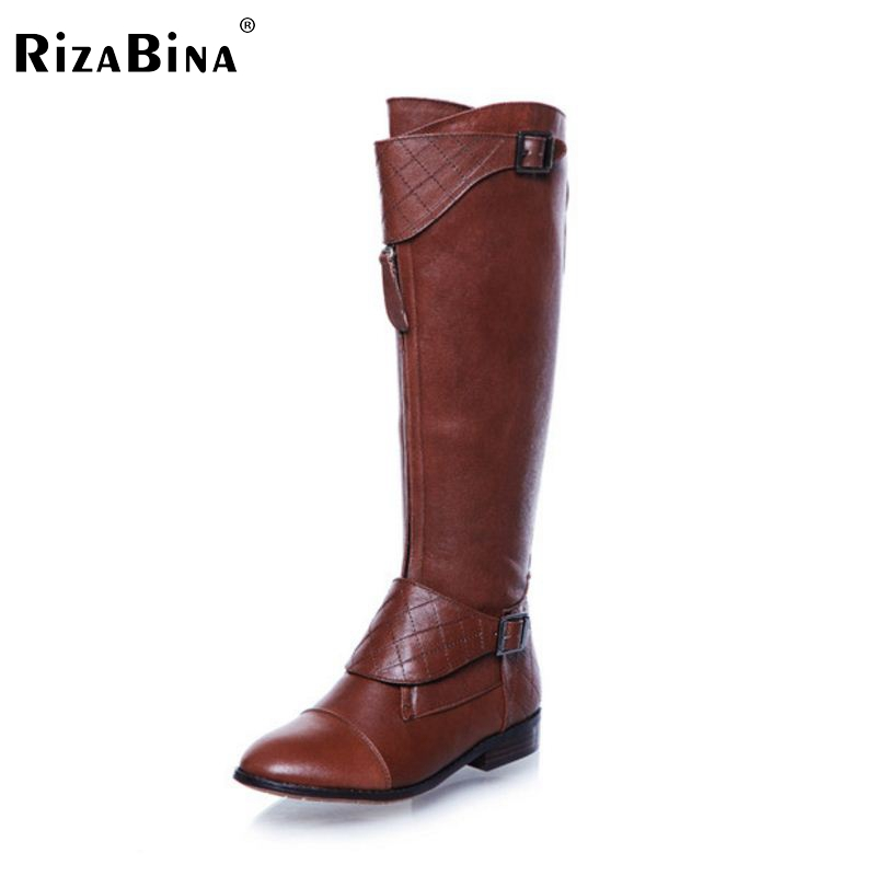 ФОТО RizaBina Free shipping over knee natrual genuine leather flat boots women snow winter warm boot shoes  R1467 EUR size 34-40