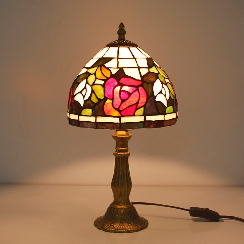 Tiffany European style table lamp creative LED bedroom bedside lamp can light incandescent lamp desk lamps ZA DF124 2016 new mediterranean lighthouse led lamp children s room bedroom lamps creative bedside table lamp