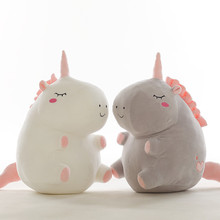 Hot 1pc 25cm unicorn plush toy fat doll cute animal stuffed soft pillow baby kids toys for girl birthday christmas gift