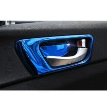 Lsrtw2017 Stainless Steel Car Inner Door Frame Door Bowl Panel Trims for Kia K5 Optima 2016 2017 2018 2019 2020