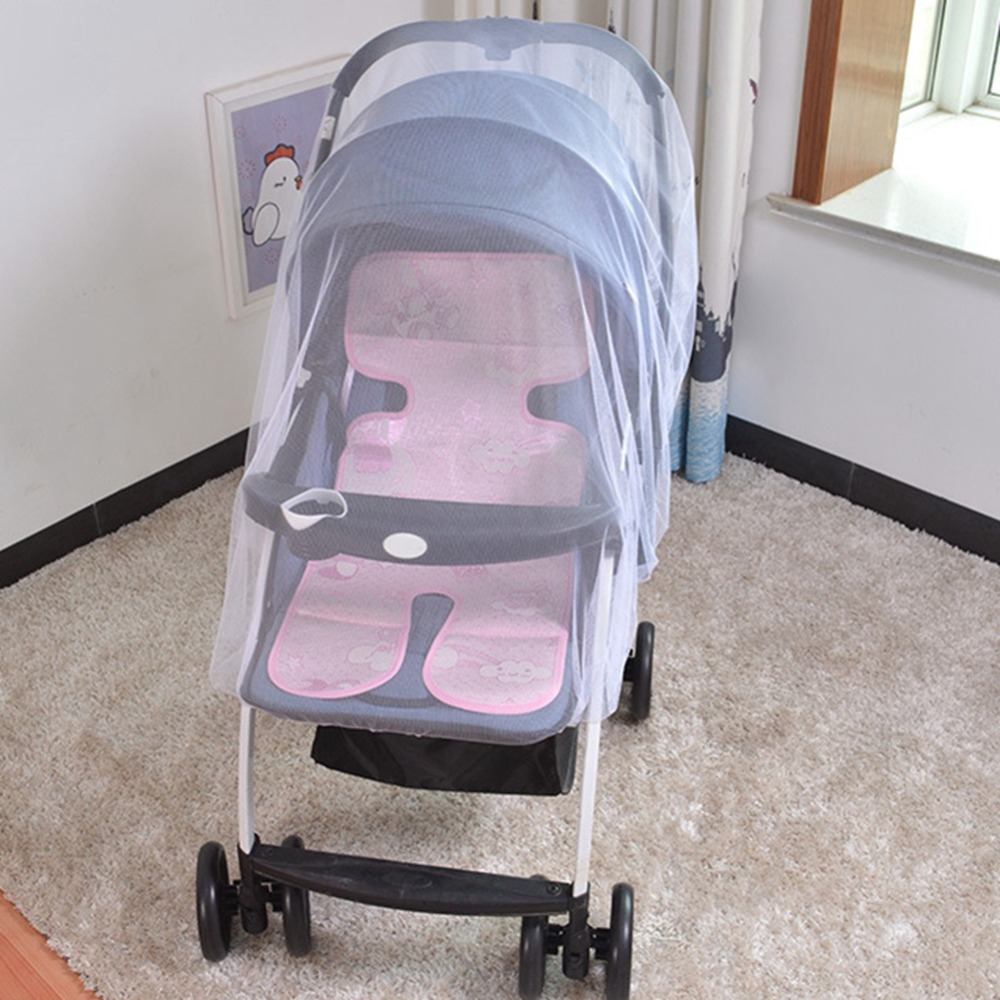 New Baby Carriage Cart Mosquito Net Increase Large Encryption Baby Stroller Netting Pushchair Insect Net Safe Mesh