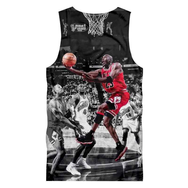 ddd8d6710901 ... CJLM Men Tanktop 2018 Summer Tops Cool Print Jordan 23 3D Tanks Hombre Hip  Hop Sleeveless ...