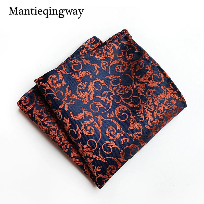 Mantieqingway Mens Handkerchiefs 25cm Pocket Square For Wedding Party Business Suits Handkerchiefs Hanky Polyester Chest Towel