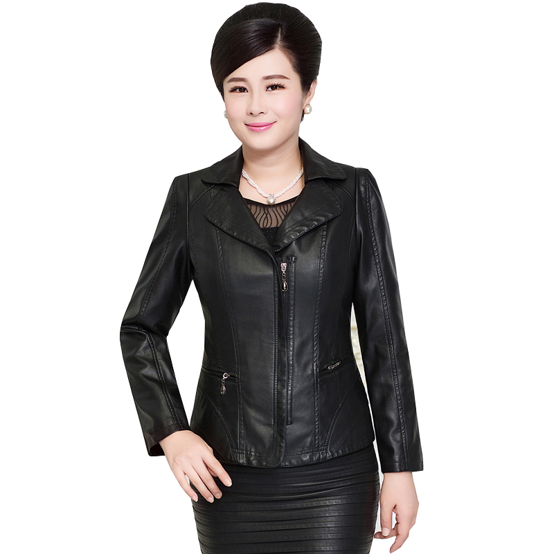 2017 Autumn Plus Size   Leather   Jacket Women PU   Leather     Suede   3 Colors 4XL 5XL Women's Short Motorcycle Biker Jacket Coat AC278