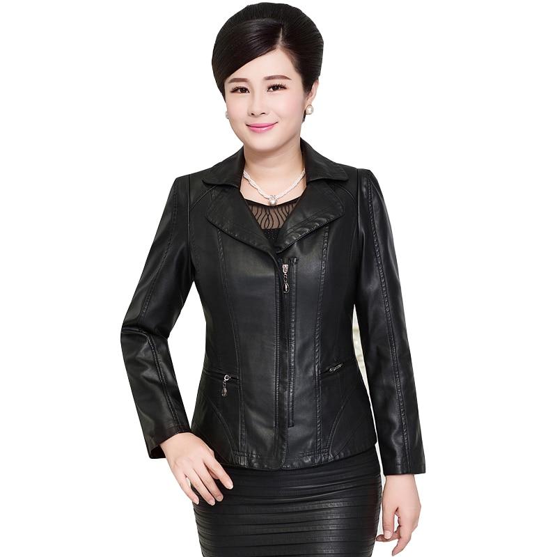 2017 Autumn Plus Size   Leather   Jacket Women PU   Leather     Suede   3 Colors 4XL 5XL Women's Short Motorcycle Biker Jacket Coat AC278