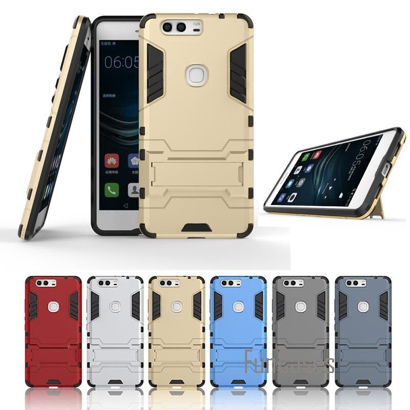 P9 Plus Cases Mobile Phone Case For Huawei P9 Plus Case VIE-AL10 X4 Cover Back Heavy Duty Armor Stand Mobile Shell carpinhas cas