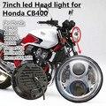 "7"" Motorcycle LED Headlights With Half Halo For Honda CB400 CB500 CB1300 Hornet 250 600 900 VTEC VTR250"