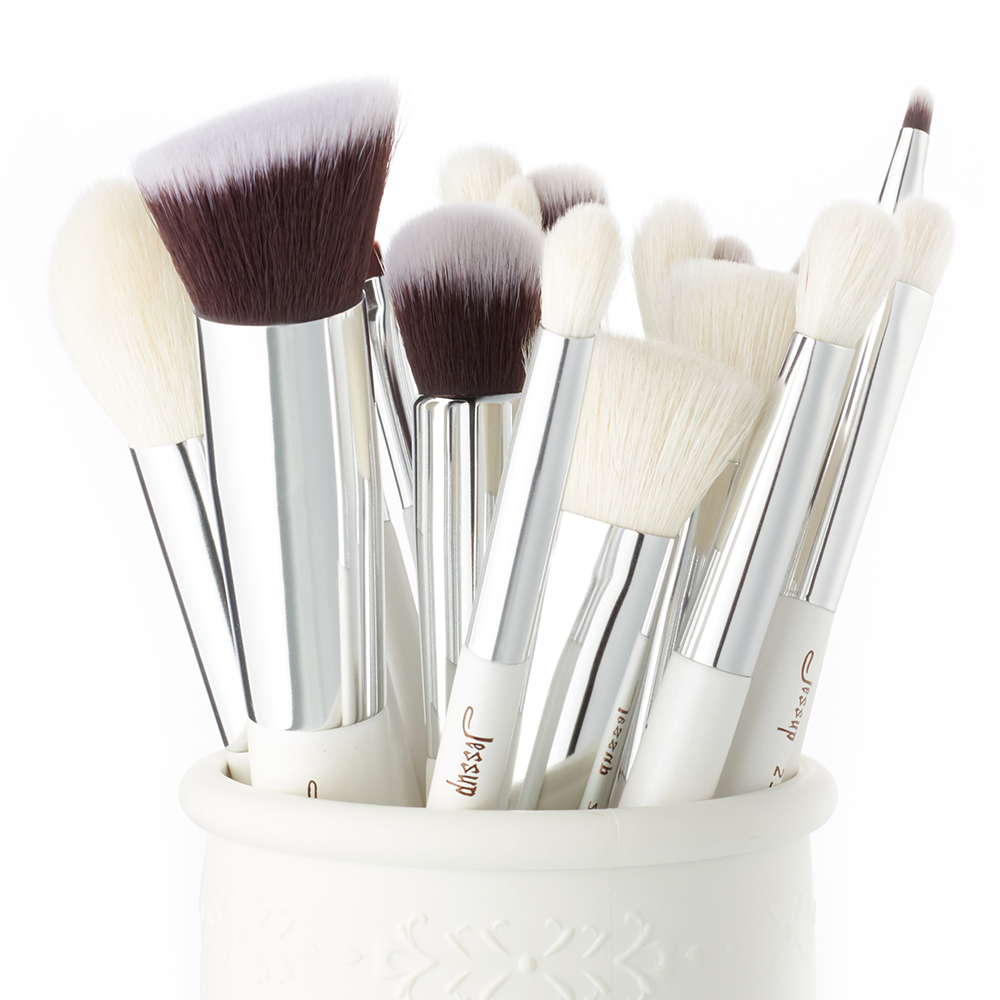 Image 5 - Jessup Makeup Brushes White/Silver 20pcs pinceaux maquillage Professional Eyeshadow Foundation Powder Makeup Brush Kit T245jessup brushesfoundation powder brushpowder brush -