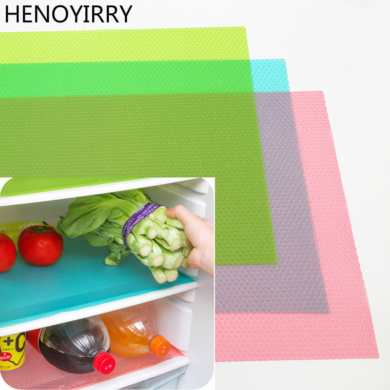 1pc/4pcs Refrigerator Pad Antibacterial Antifouling Mildew Moisture Tailorable Pad Refrigerator Mats Fridge Waterproof