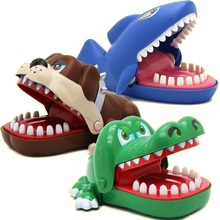crocodile dog shark Creative Practical Jokes Mouth Tooth Hand Childrens Toys Family Games Classic Biting Game